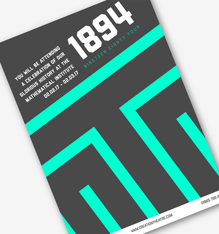 1984 Poster Concept for Creation Theatre's 1984 Production, Feb 2017.