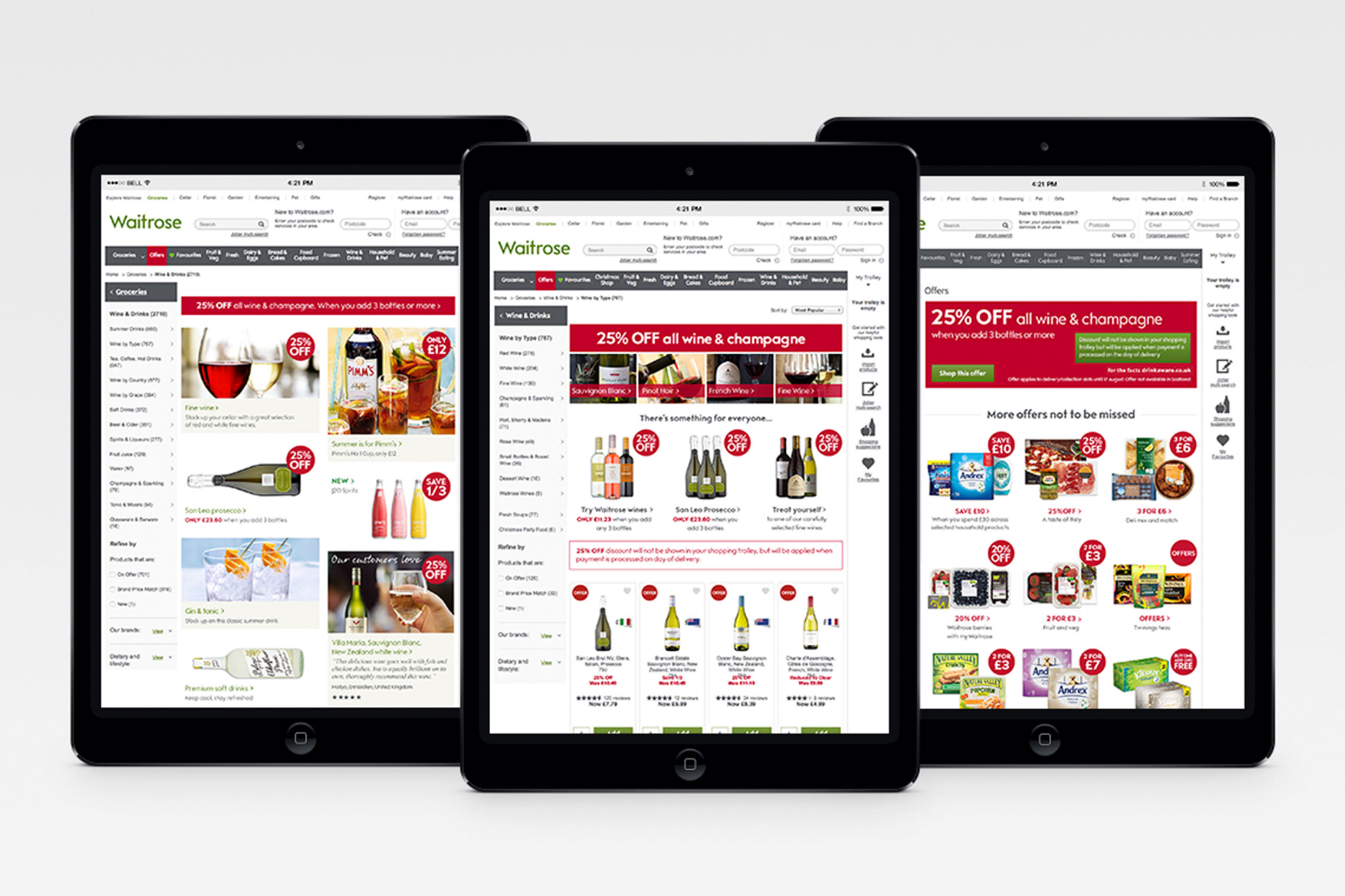 iPad featuring hotspots and banners on waitrose.com designed by Miranda | Made by Miranda | © Miranda Thorne | madebymiranda.co.uk